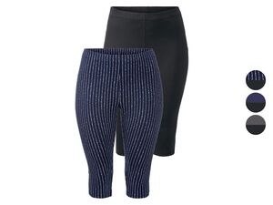 ESMARA® Leggings Damen, 2 Stück, in Capri-Länge