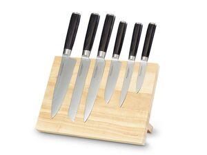 ECHTWERK EW-DM-0388-3 Damastmesser Set 7-TLG inkl. Magnet-Messerblock aus Holz