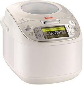 Tefal Multikocher 45in1 RK8121, 750 W, 45 automatische Kochprogramme, verzögerter Start, Warmhaltefunktion, 5L Kapazität, LC-Display