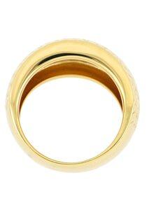Firetti Goldring »mit glänzender Diamantierung«