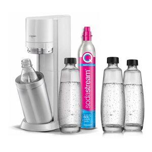 SodaStream Duo White Wassersprudler inkl. 3 Glasflaschen + 1 PET Flasche weiß