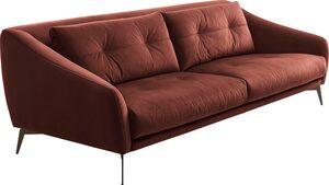 Places of Style 3-Sitzer »Williston«, auch in Naturleder, mit Metallfüßen
