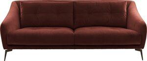 Places of Style 2-Sitzer »Williston«, auch in Naturleder, mit Metallfüßen