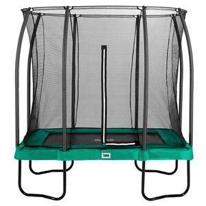 Salta Trampoline - Comfort Edition - rechteckig - 153 x 214cm - 5x7ft - Schutzrand grün