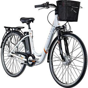 Zündapp Z510 700c E-Bike E Cityrad Damenrad Pedelec Elektrofahrrad Damen Fahrrad 28 Zoll... 48 cm, weiß/orange