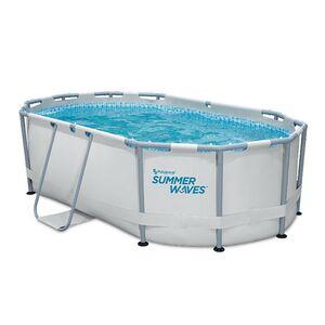 Summer Waves Active Frame Oval Pool 300x200x84 cm lichtgrau