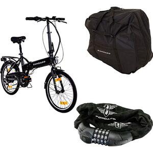 Zündapp Z101 20 Zoll E-Klapprad mit Tasche und Schloss E-Bike Faltrad Pedelec Elektrofaltrad... schwarz, mit Tasche und Schloss