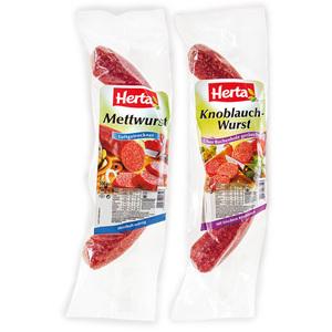 Herta Knoblauch-/ Mettwurst