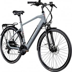 Zündapp E-Bike Trekking 28 Zoll Z810 Herren, 24-Gang, grau