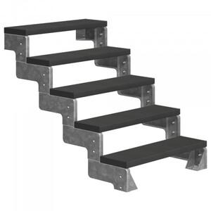 Dolle Außentreppe Gardentop 5 Stufen ohne Geländer, Breite 80 cm, Trimax, anthrazit