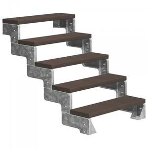 Dolle Außentreppe Gardentop 5 Stufen ohne Geländer, Breite 80 cm, Trimax, dunkelbraun