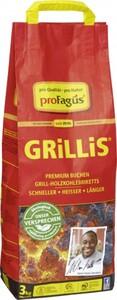 Profagus Buchengrillholzkohle-Briketts-Grillis 3 kg Beutel