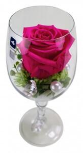 Long Life Rose Leonardo Weinglas 23 cm, pink