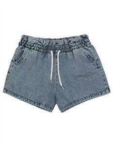 Mädchen Shorts - Acid-Washed