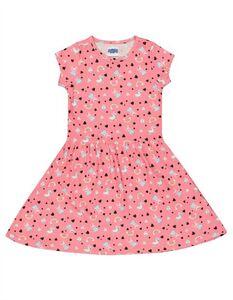 Mädchen Kleid mit Peppa Pig-Print