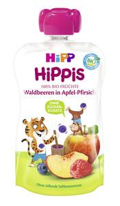 Hipp Bio Hippis Waldbeeren in Apfel-Pfirsich 100 g