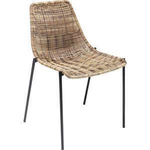Kare-Design Stuhl braun schwarz  Tansania