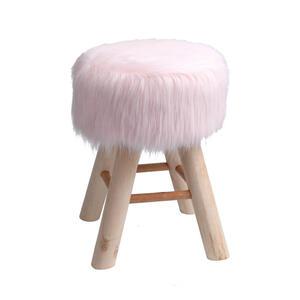 Ambia Home Hocker beschichtet kiefer naturfarben rosa  Kb46-M5546