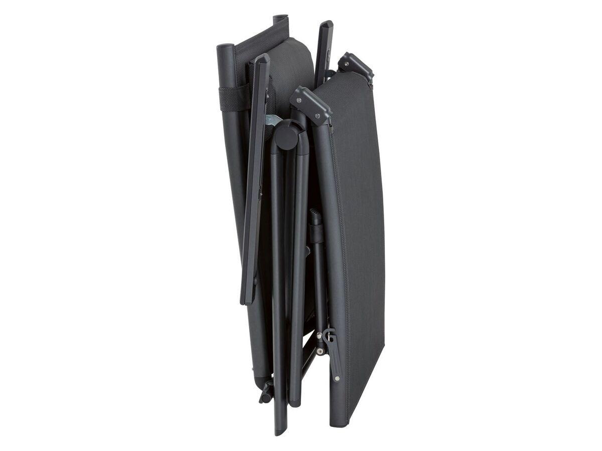 Bild 4 von FLORABEST Liegestuhl Houston Aluminium, mit Armlehne Schwarz