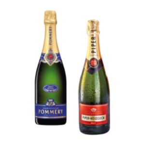 Champagner Pommery Brut Royal, Piper-Heidsieck Brut oder Heidsieck M. Rosé Top