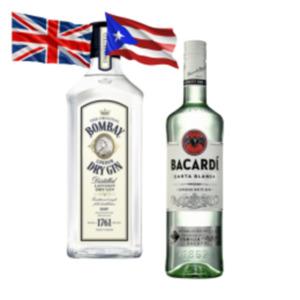 Bacardi Carta Blanca, Oakheart, Razz oder Bombay Dry London Gin