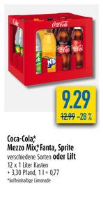 Coca-Cola, Mezzo Mix, Fanta oder Sprite