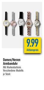 Damen Herren Armbanduhr