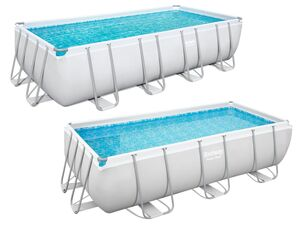 Bestway Power Steel™ Frame Pool Komplett-Set, eckig