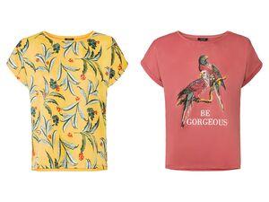 ESMARA® Blusenshirt Damen, mit Print, mit Viskose