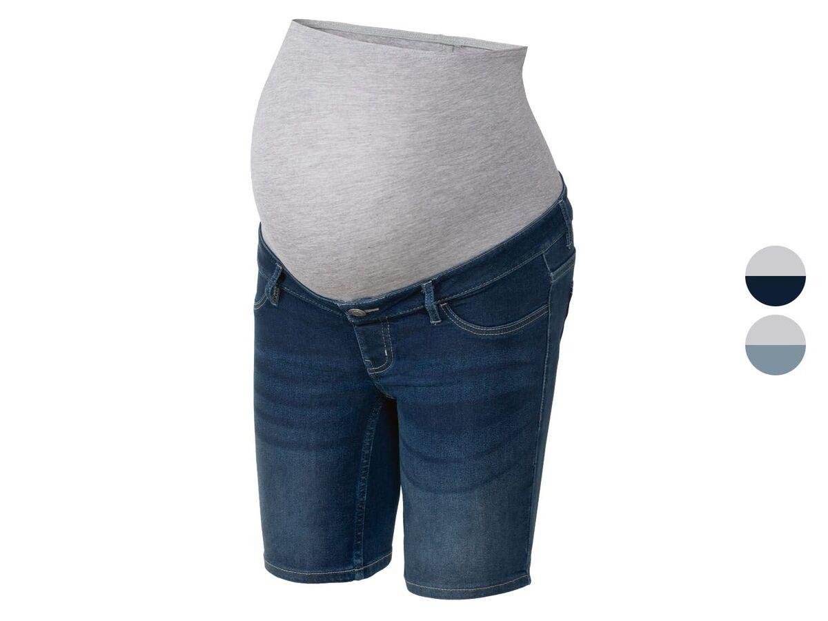 Bild 1 von ESMARA® Umstands-Jeansshort Damen, mit Bauchband
