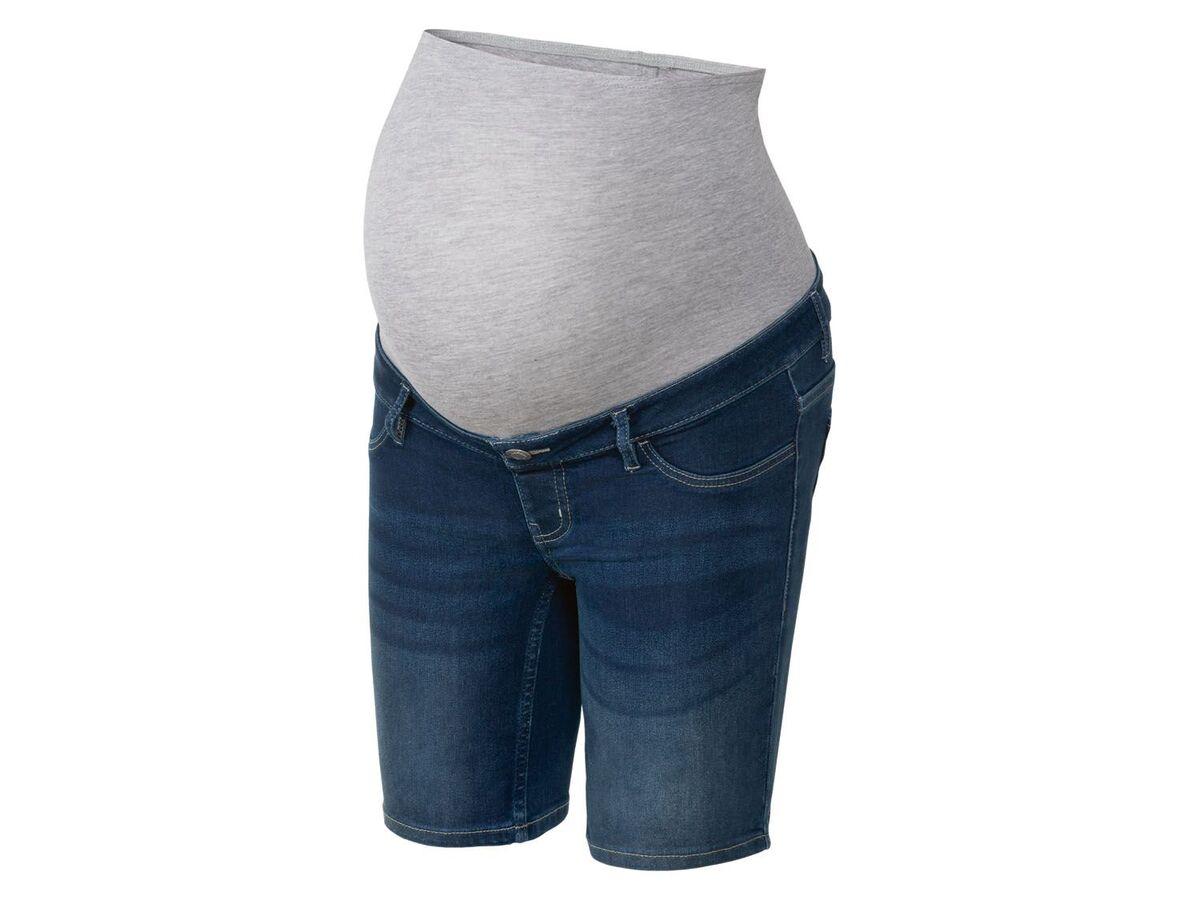 Bild 2 von ESMARA® Umstands-Jeansshort Damen, mit Bauchband