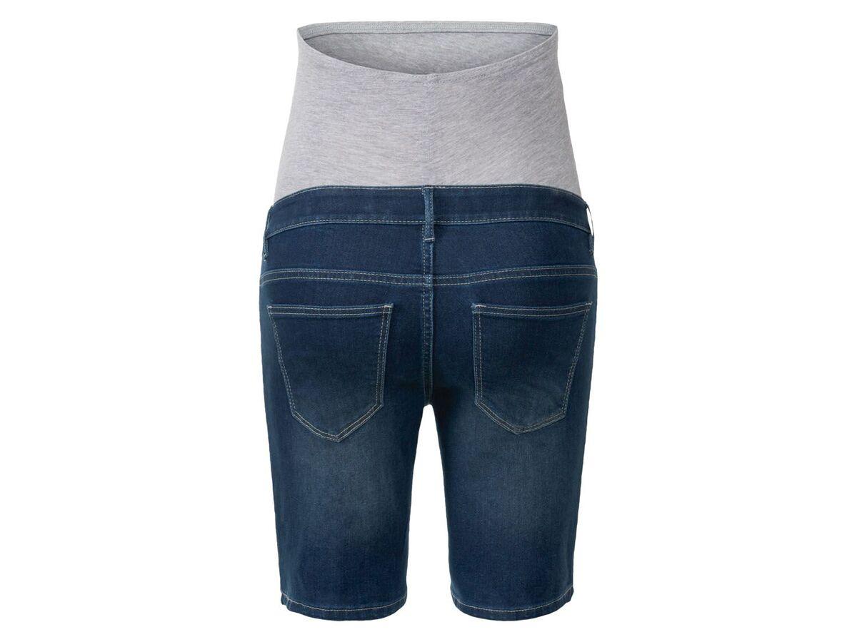Bild 3 von ESMARA® Umstands-Jeansshort Damen, mit Bauchband