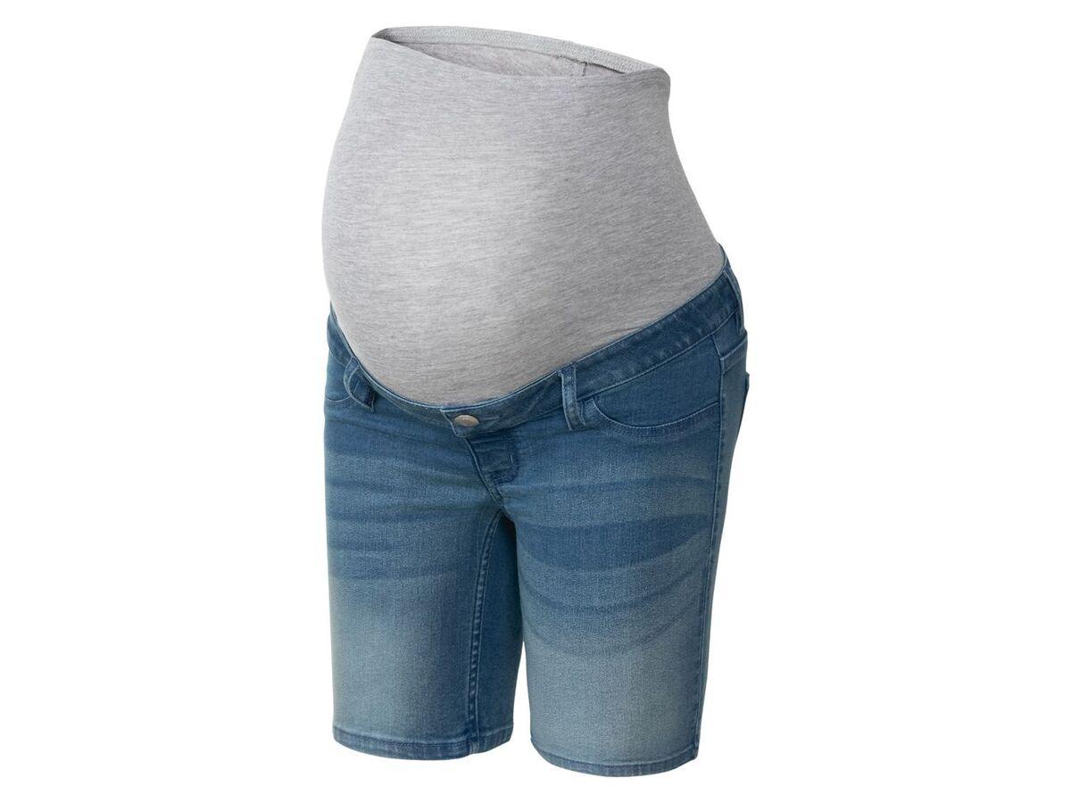 Bild 4 von ESMARA® Umstands-Jeansshort Damen, mit Bauchband