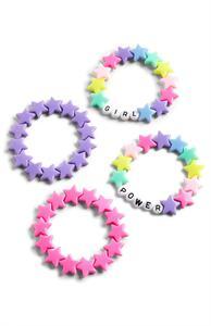 Rosa-violettes Armbandset aus Plastik