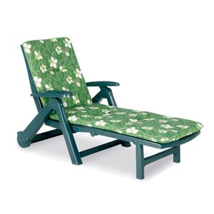 Rollliege Charleston inklusive Auflage Farbe grün-gemustert
