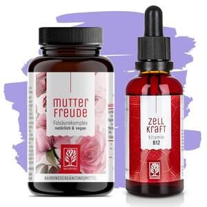 Vitamin B12 & Folsäure Paket - Mutterfreude & Zellkraft