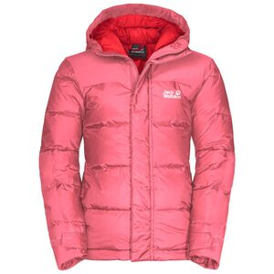 Jack Wolfskin Mount Cook Jacket Kids Winddichte Daunenjacke Kinder 92 rot coral pink