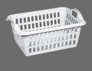 Wäschekorb 45L weiß