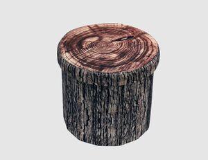 Sitzhocker Wood rund