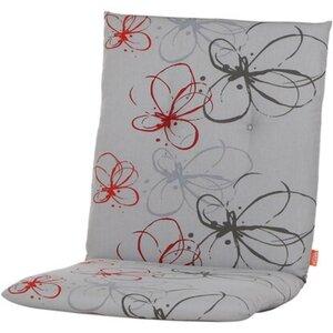 Siena Garden Auflage Niedrigl. Mirach Blume Rot ca. 100x48x8 cm