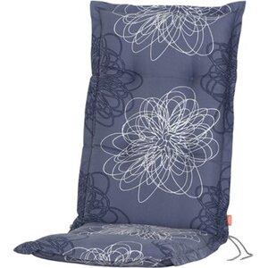 Siena Garden Xora Auflage zu Sessel Blume blau ca. 120x48x8 cm