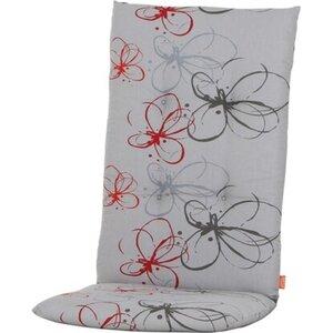 Siena Garden Auflage Hochl. Mirach Blume Rot ca. 120x48x8 cm