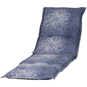 Siena Garden Xora Auflage zu Liege Blume Blau ca. 200x58x8 cm