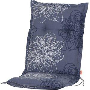 Siena Garden Xora Auflage zu Sessel Blume blau ca. 110x48x8 cm