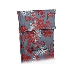 Liegen-Auflage Trend-Line 190 x 60 x 8 cm Grau-Rot D.1111