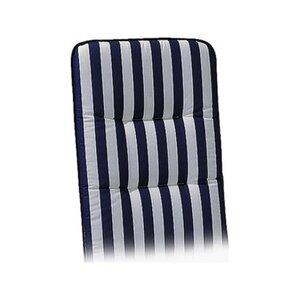 Liegen-Auflage Basic-Line 190 x 60 x 6 cm Blau-Weiß D.0268