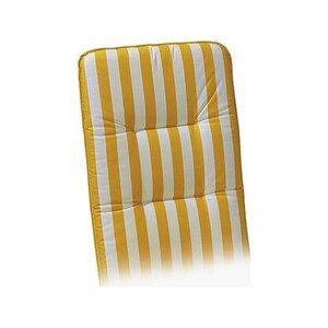 Liegen-Auflage Basic-Line 190 x 60 x 6 cm Gelb-Weiß D.0270