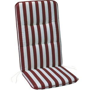 Hochlehner-Auflage Basic-Line 120 x 50 x 6 cm Rot-Weiß D.0271
