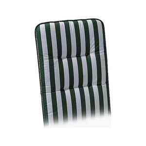 Liegen-Auflage Basic-Line 190 x 60 x 6 cm Weiß-Grün D.0269