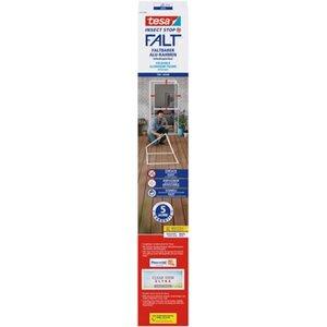 Tesa® Fliegengitter-Tür Falt faltbarer Alu-Rahmen Weiß